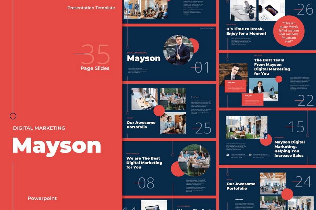 Mayson - Digital Marketing Powerpoint Templates