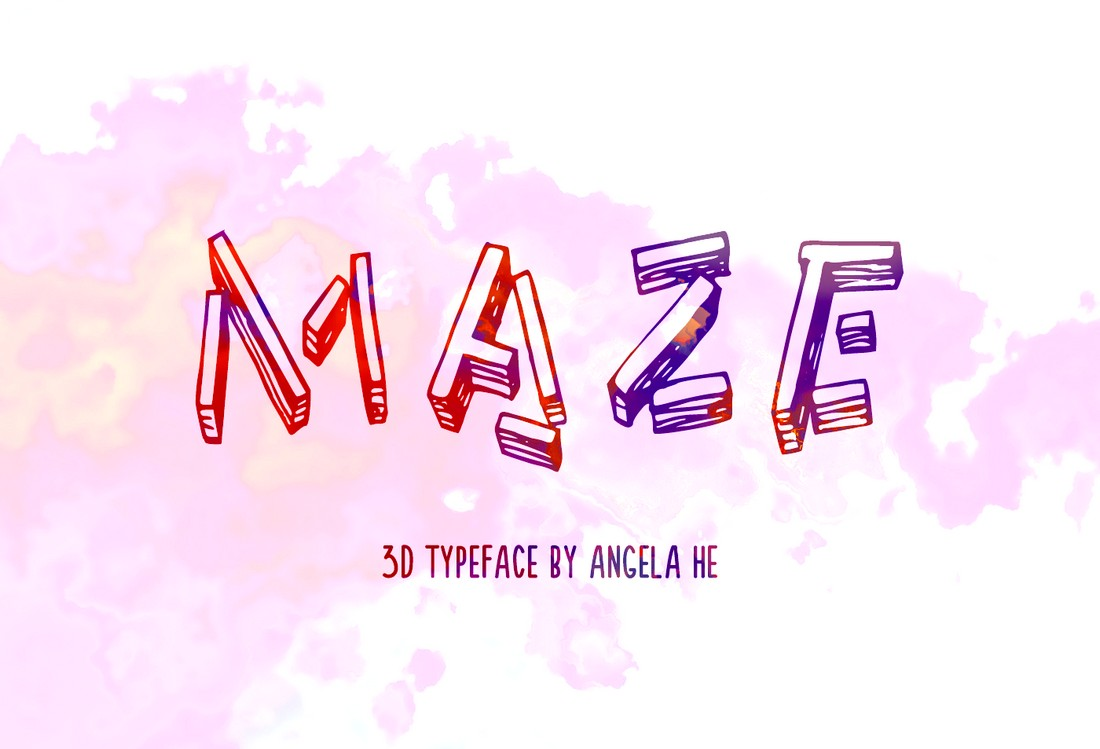 Maze - Free 3D Font