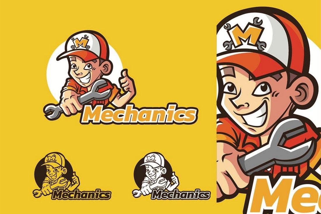 Mechanics - Mascot & Esport Logo template