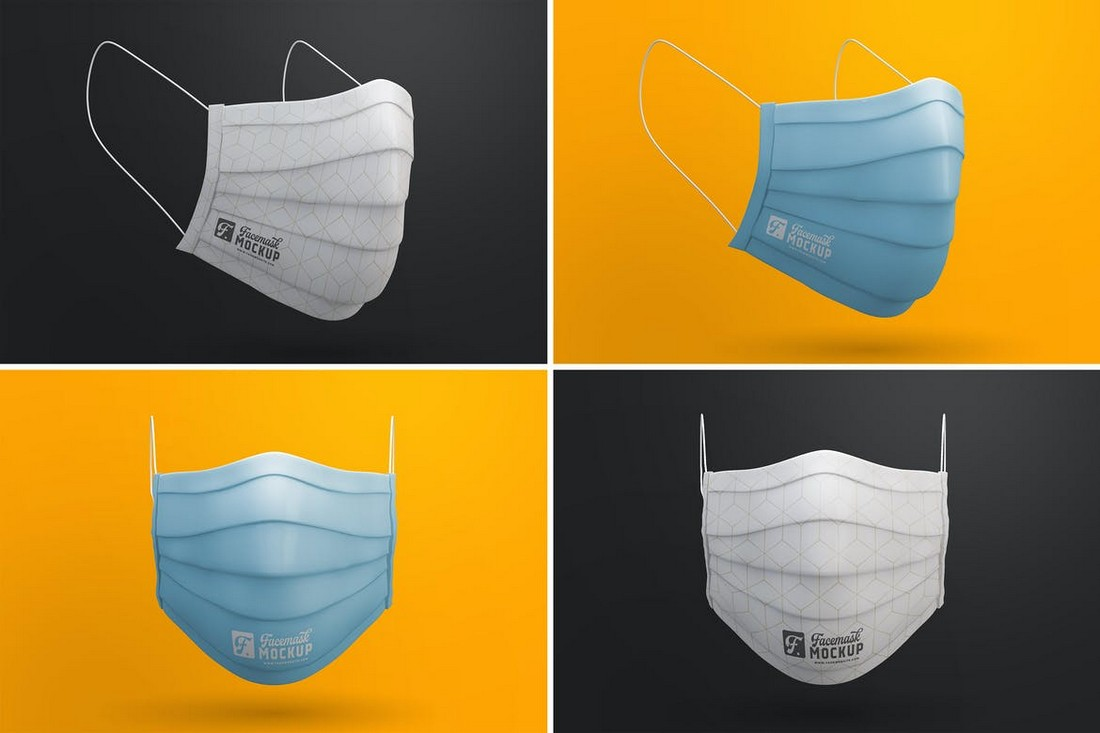 Medical Face Mask Mockup Templates
