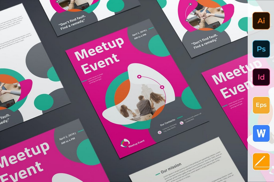 Meetup Event Flyer Word Template