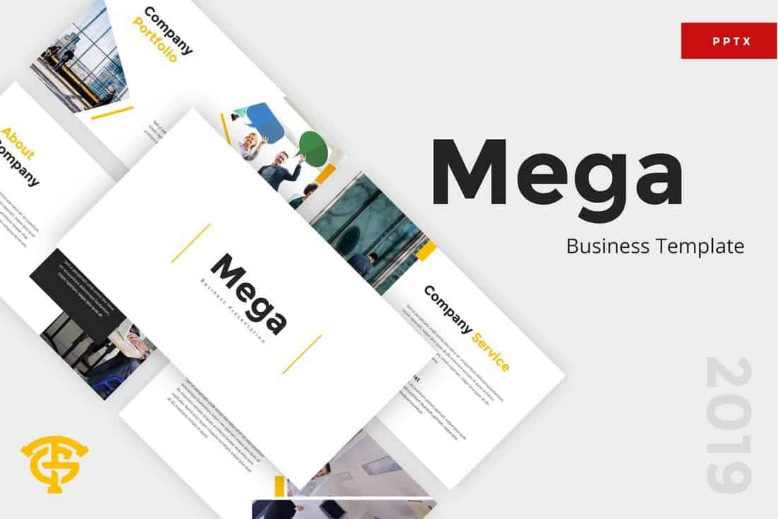 Mega Business - Modèle PowerPoint