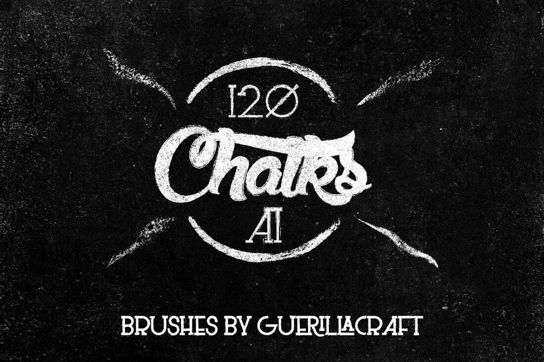 Megapack-Of-Chalks-For-Adobe-Illustrator 30+ Best High-Quality Photoshop & Illustrator Brushes design tips