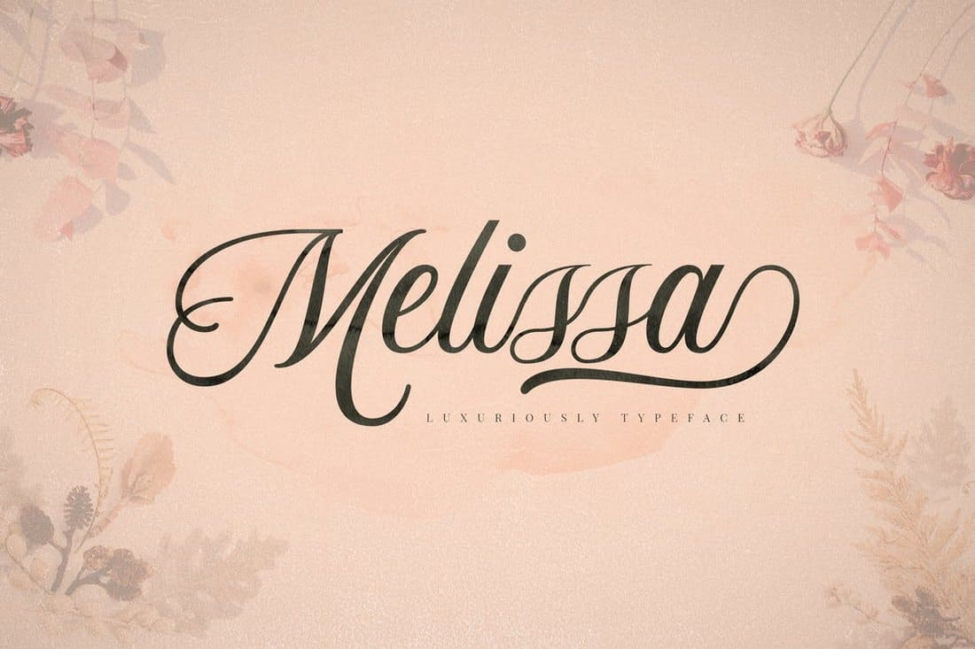 Melissa-Luxury-Script-Font 50+ Best Hand Lettering & Handwriting Fonts 2021 design tips