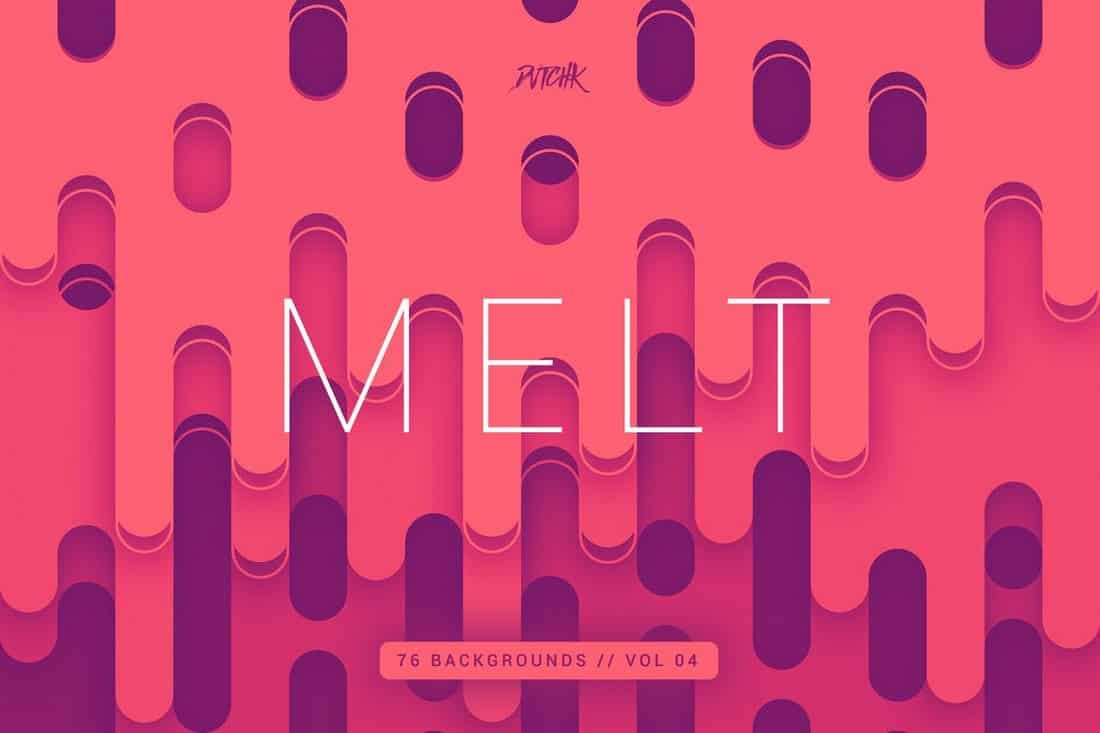 Melt - Abstract Rounded Backgrounds Vol4