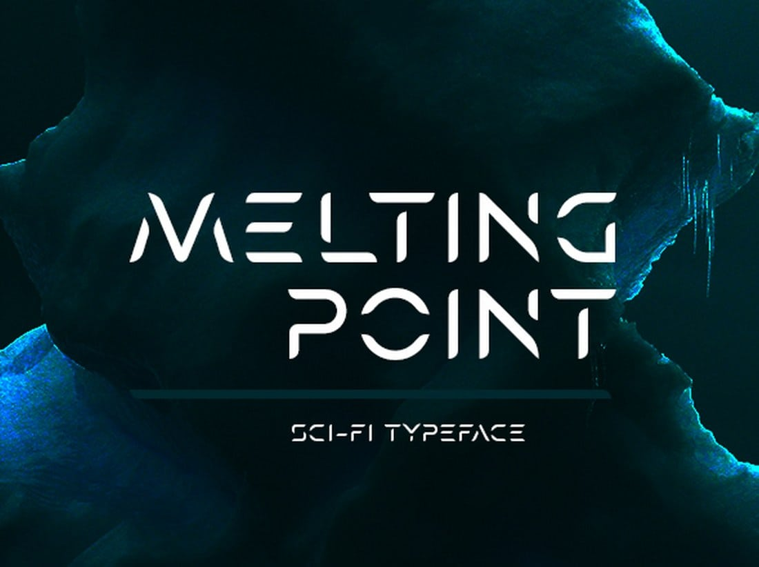 Melting-Point-Sci-fi-Font 30+ Best Stencil Fonts design tips