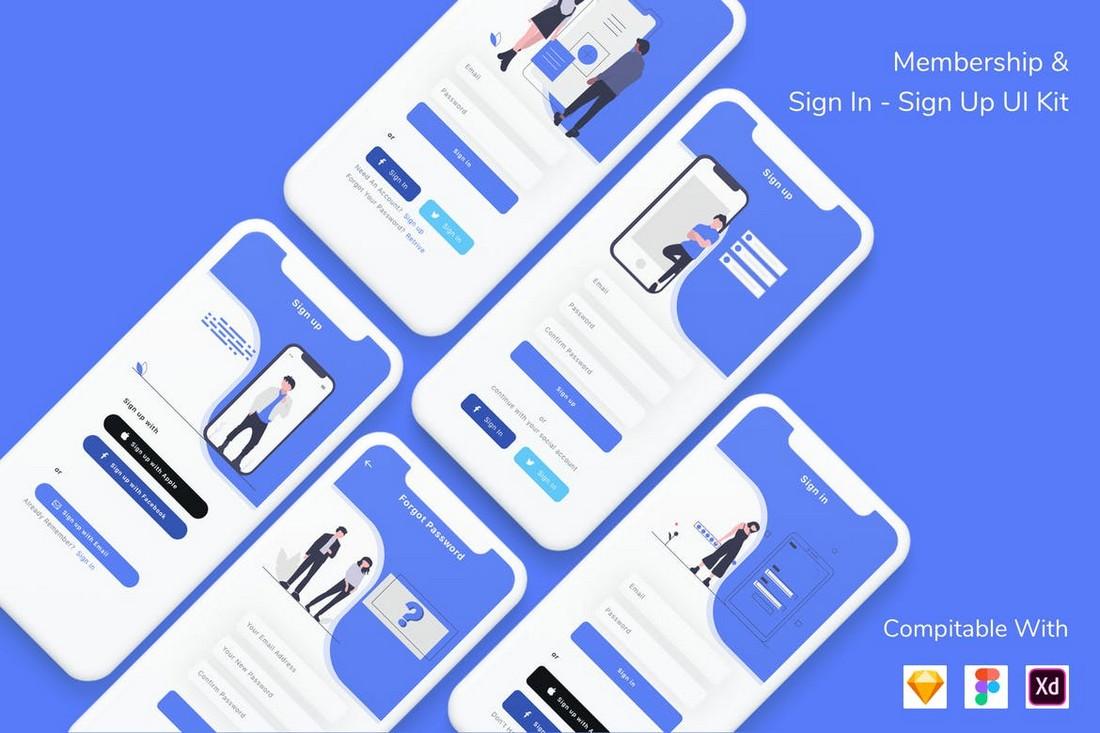Membership & Sign In - Sign Up UI Kit