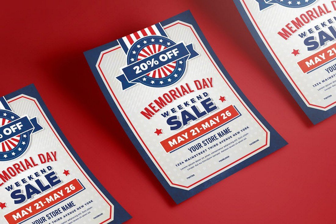 Memorial-Day-Sale-Flyer-Poster 27 Inspiring Letterpress Style Posters design tips