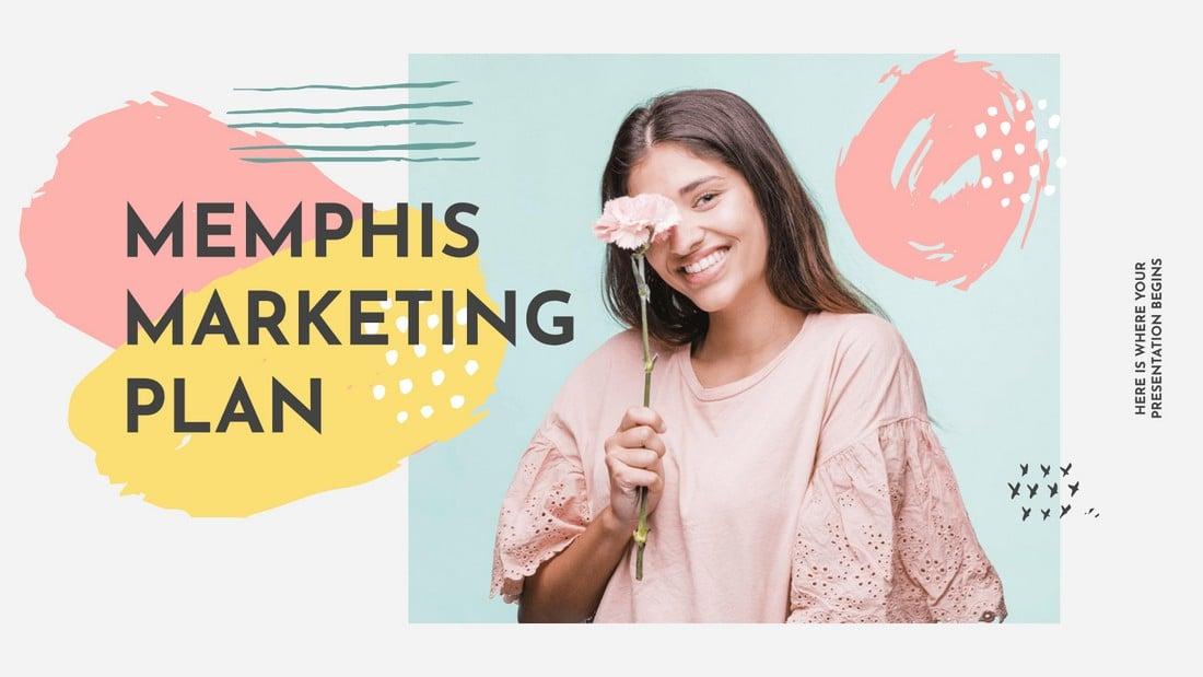 Memphis Marketing Plan - Free Google Slides Template