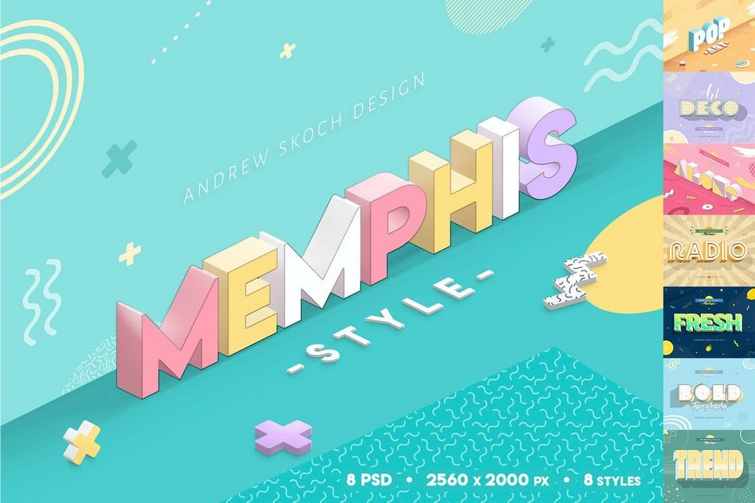 Memphis-Style-Text-Effects-PSD 25+ Best Photoshop Text Effects 2020 (Free & Premium) design tips