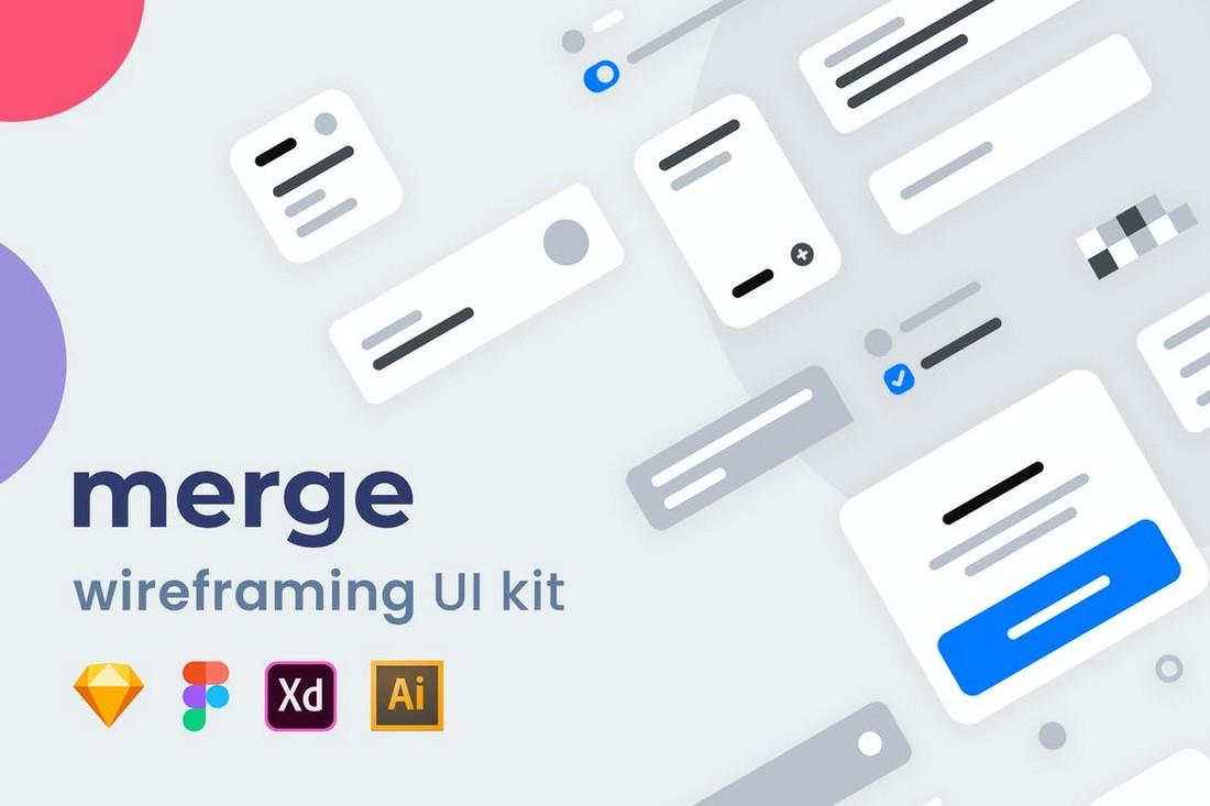 Merge - Adobe XD Wireframing UI Kit