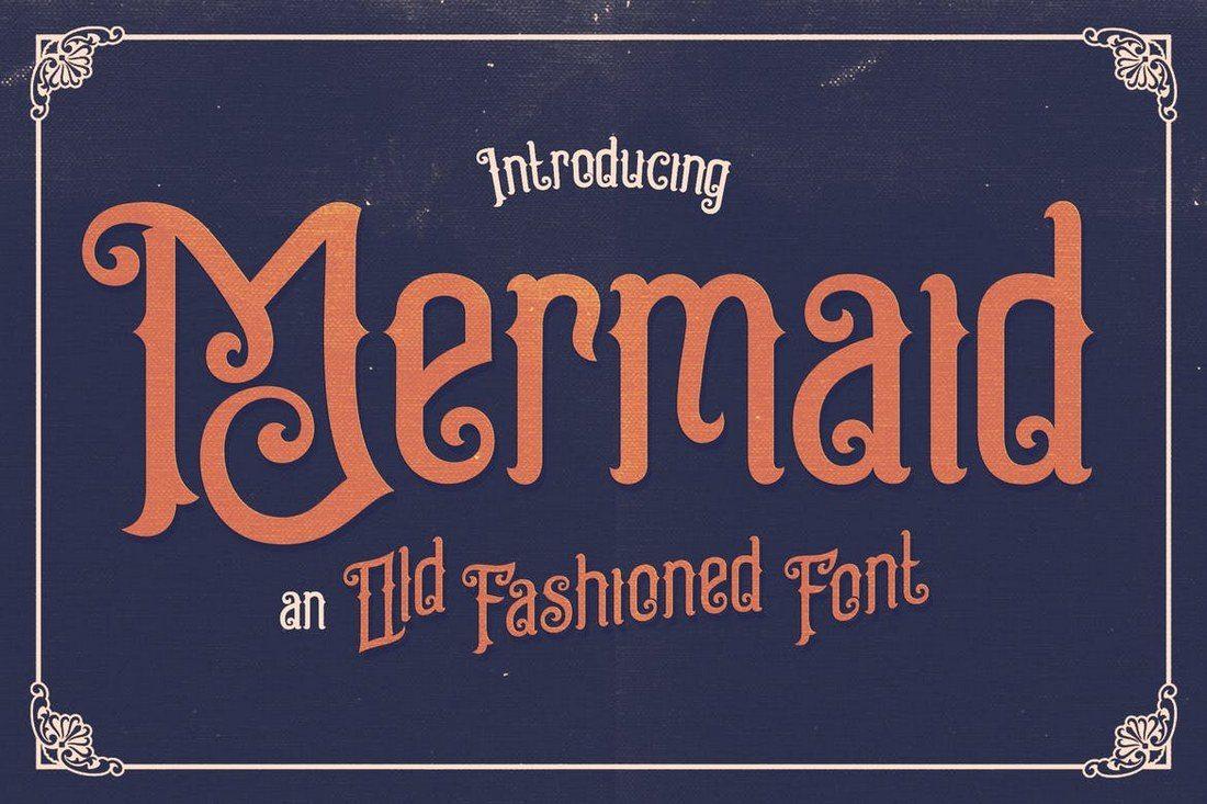 Mermaid-Typeface 25+ Best Monogram Fonts design tips