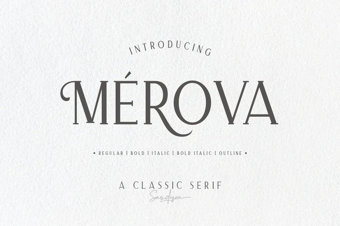 Merova - Classic Serif Font