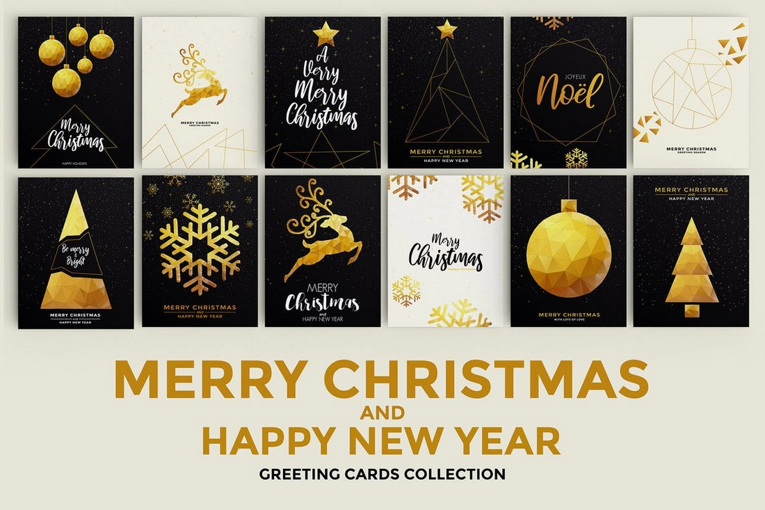 Merry Christmas & Happy New Year Card Templates