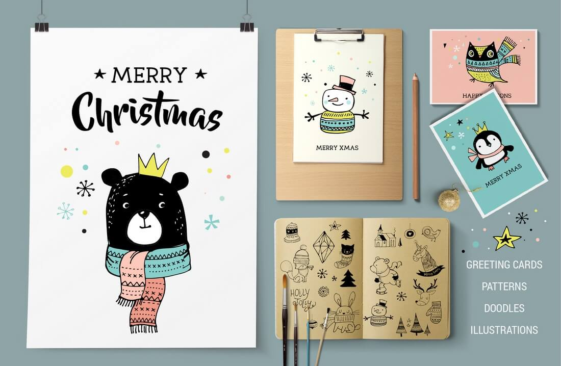 merry-christmas-greetings-doodles
