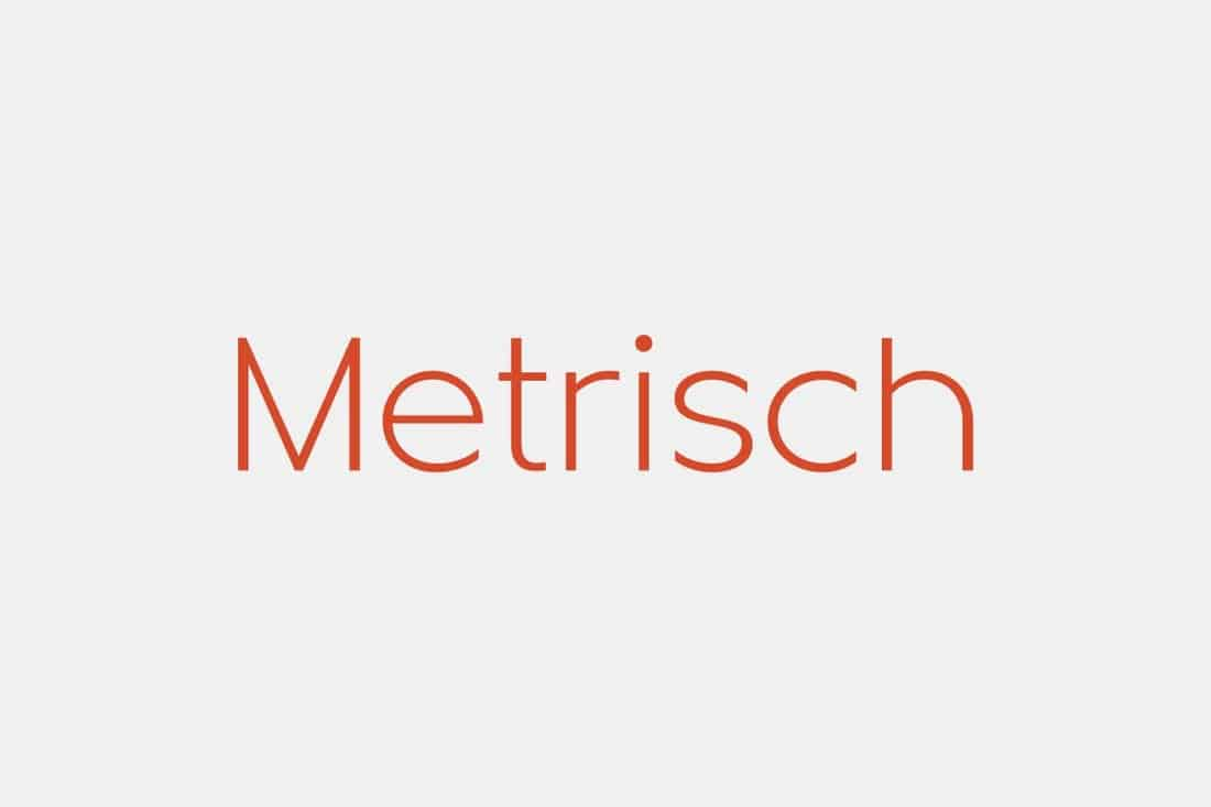 Metrisch - Modern Resume Font