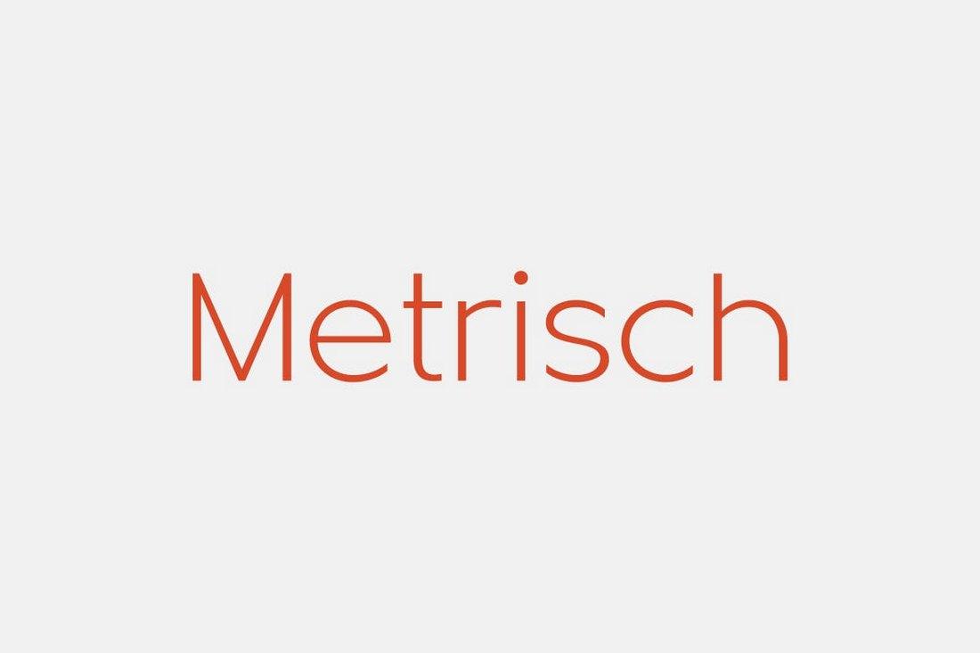 Metrisch - Simple Business Font
