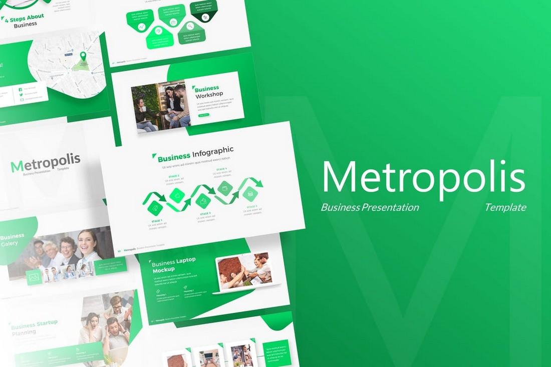 Metropolis-Business-Powerpoint-Template 20+ Best Webinar PowerPoint Templates (Remote Presentation PPT Slides) design tips