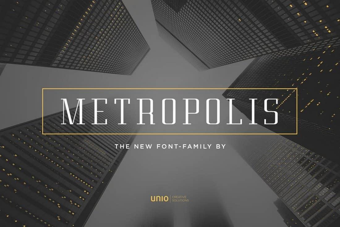 Metropolis - Modern Font Family