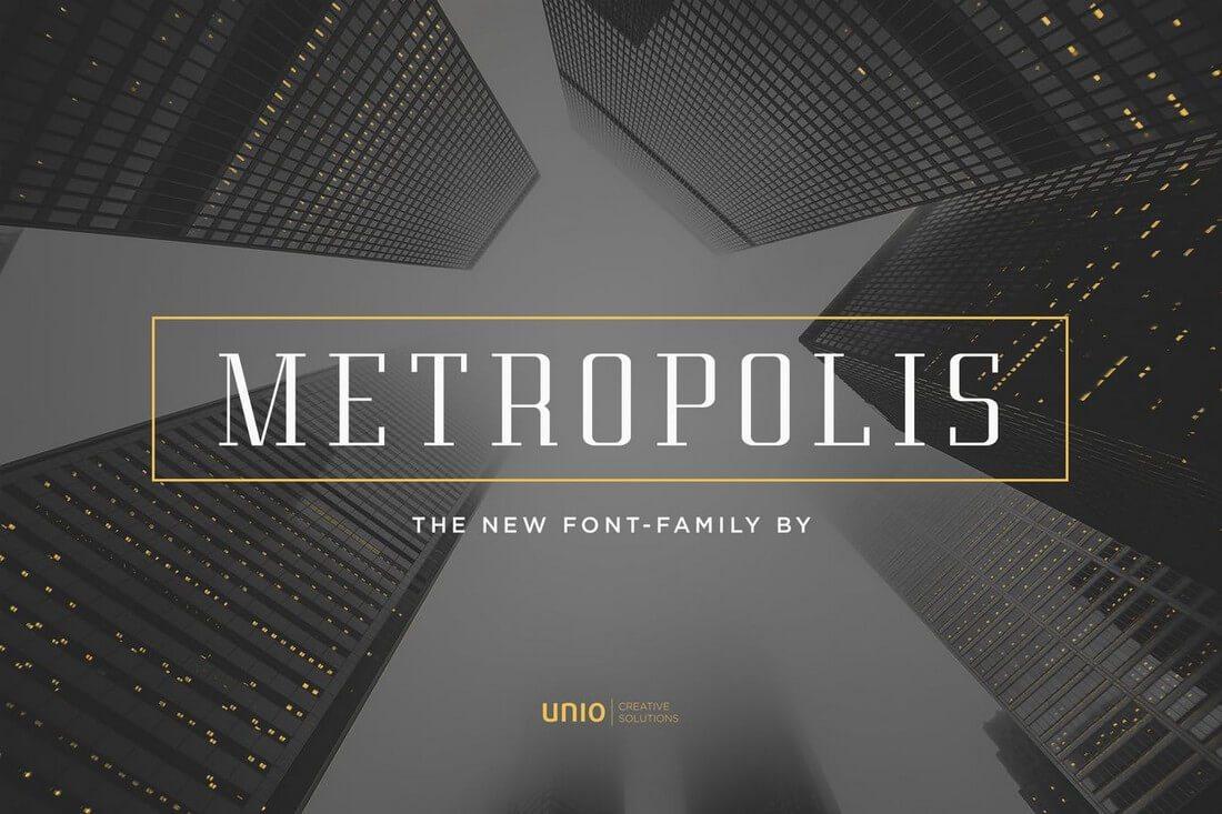 Metropolis 60+ Best Big, Poster Fonts of 2019 design tips