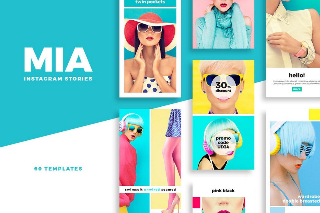 Mia-Instagram-Story-and-Post-Templates 30+ Best Instagram Templates & Banners design tips
