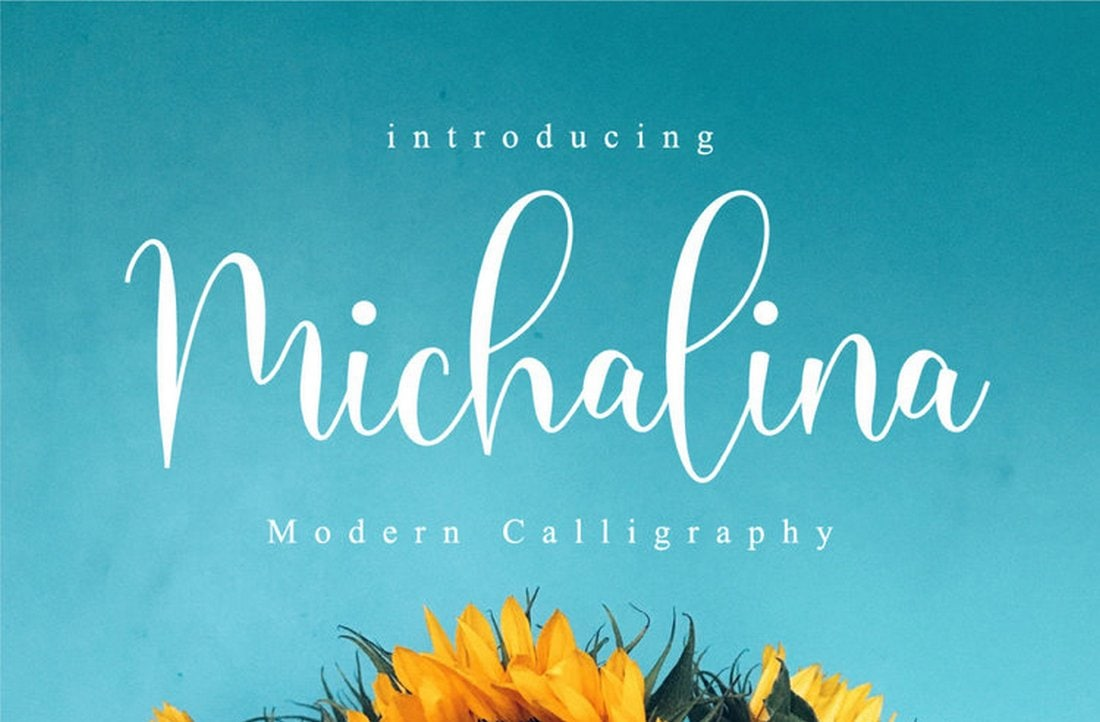 Michalina - free modern italic font