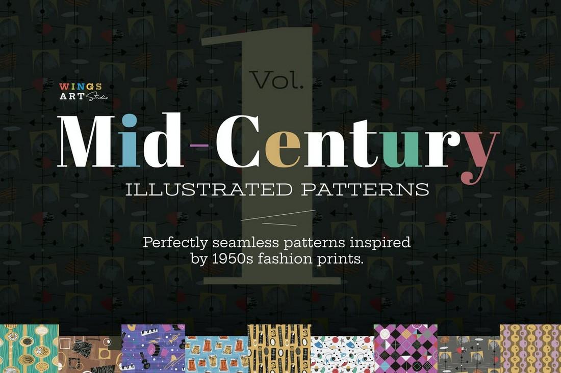 Mid-Century Illustrated Patterns