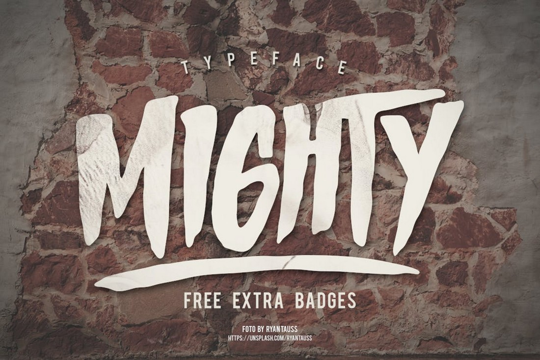 Mighty - Bold Decorative Font