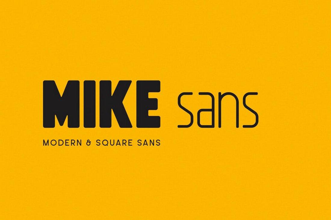 Mike Sans - Modern Square Font