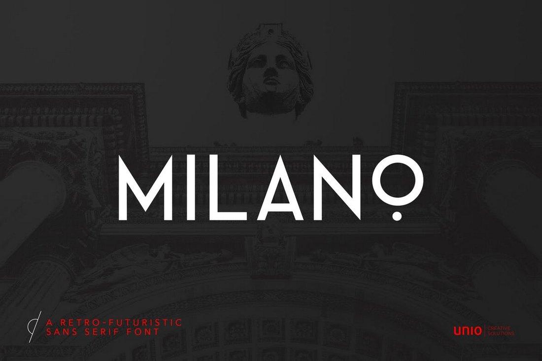 Milano - RetroFuturistic Sans Serif Font