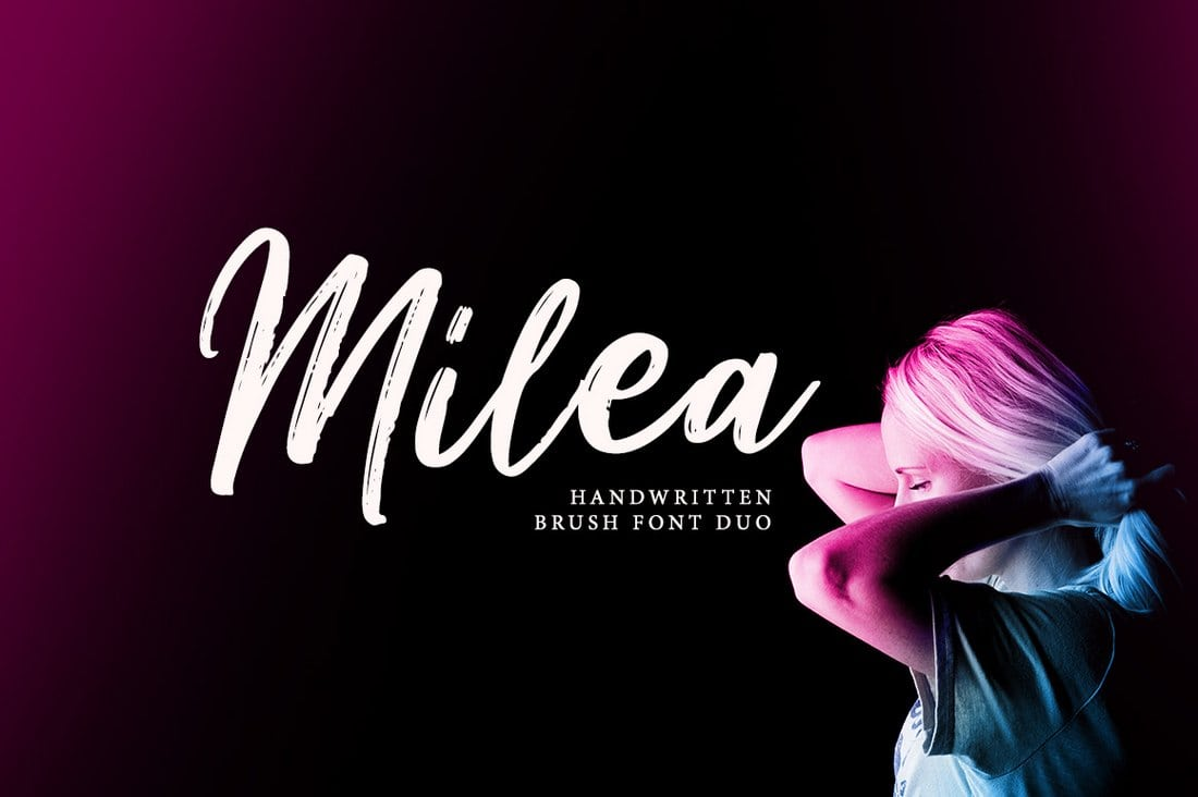 Milea-Handwritten-Brush-Font 60+ Best Free Fonts for Designers 2019 (Serif, Script & Sans Serif) design tips