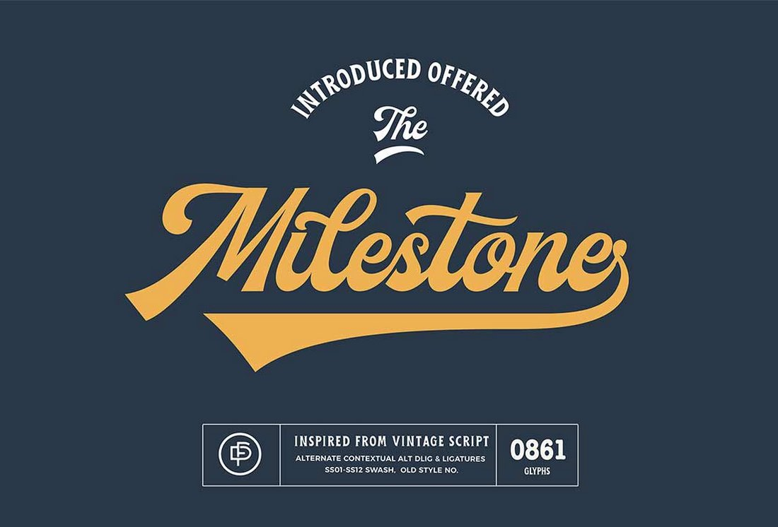 Milestone-Vintage-Script-Font 30+ Bold & Free Script Fonts design tips  Typography|fonts|script