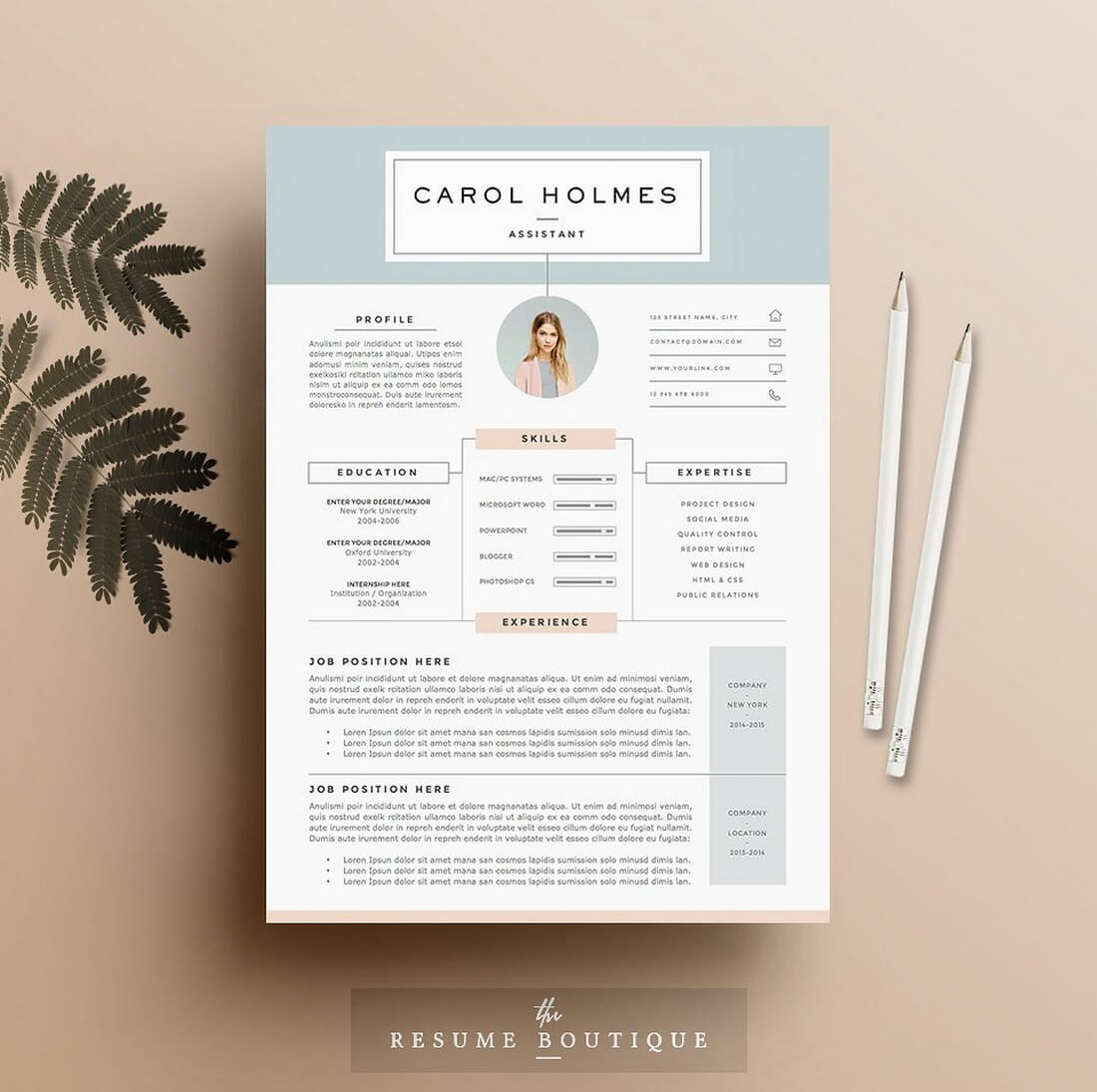 Milky-Way 50+ Best CV & Resume Templates 2020 design tips