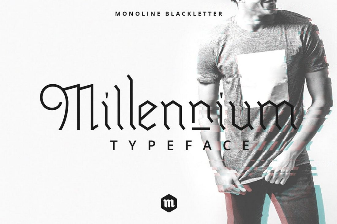 Millennium-Blackletter-Gothic-Font 20+ Best Gothic Fonts design tips