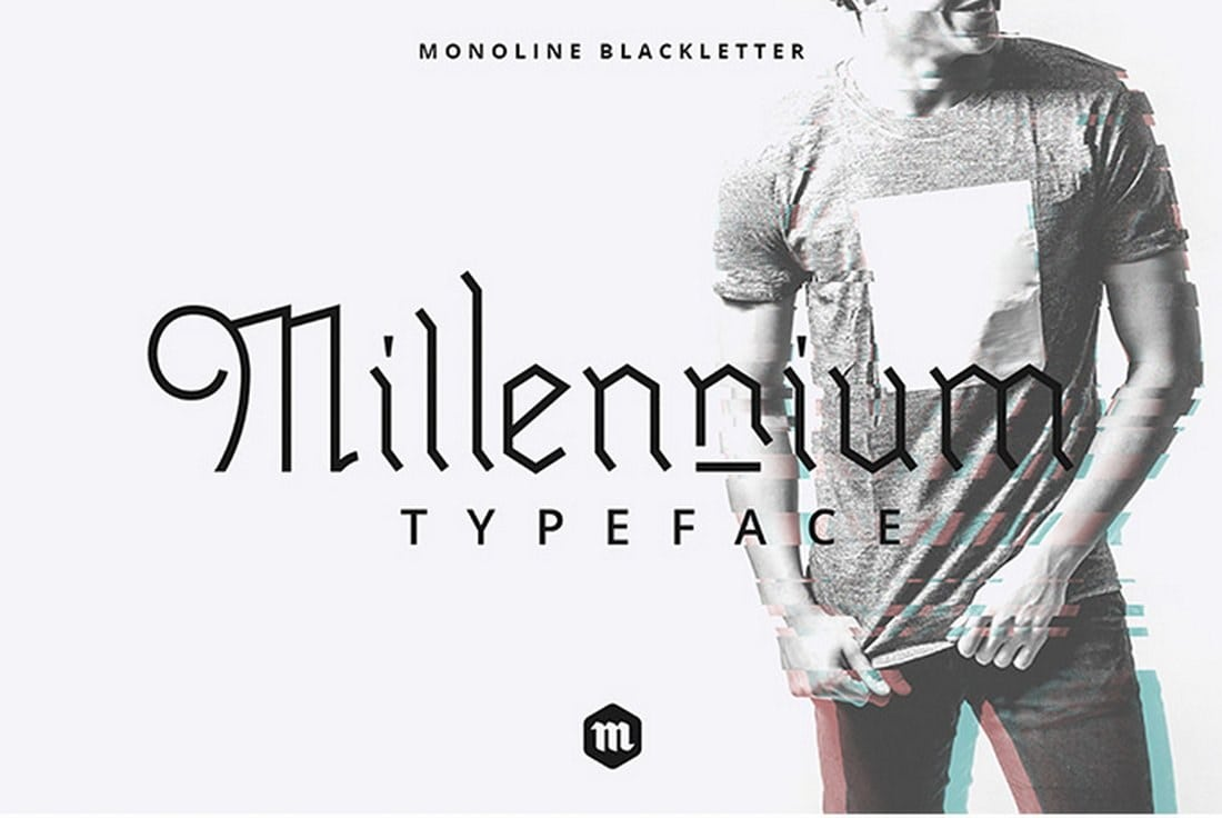 Millennium-Blackletter-Typeface 60+ Best Free Fonts for Designers 2019 (Serif, Script & Sans Serif) design tips
