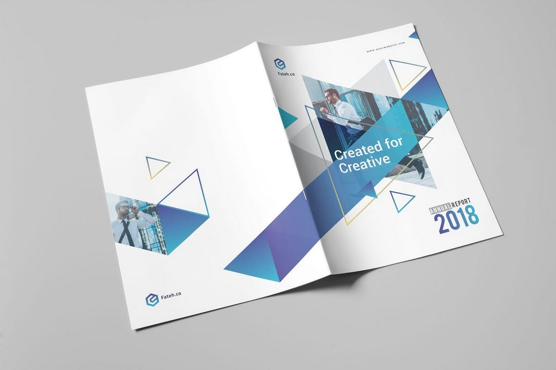 Minimal-Annual-Report-InDesign-Template-1 30+ Annual Report Templates (Word & InDesign) 2020 design tips  Inspiration|annual|report|template