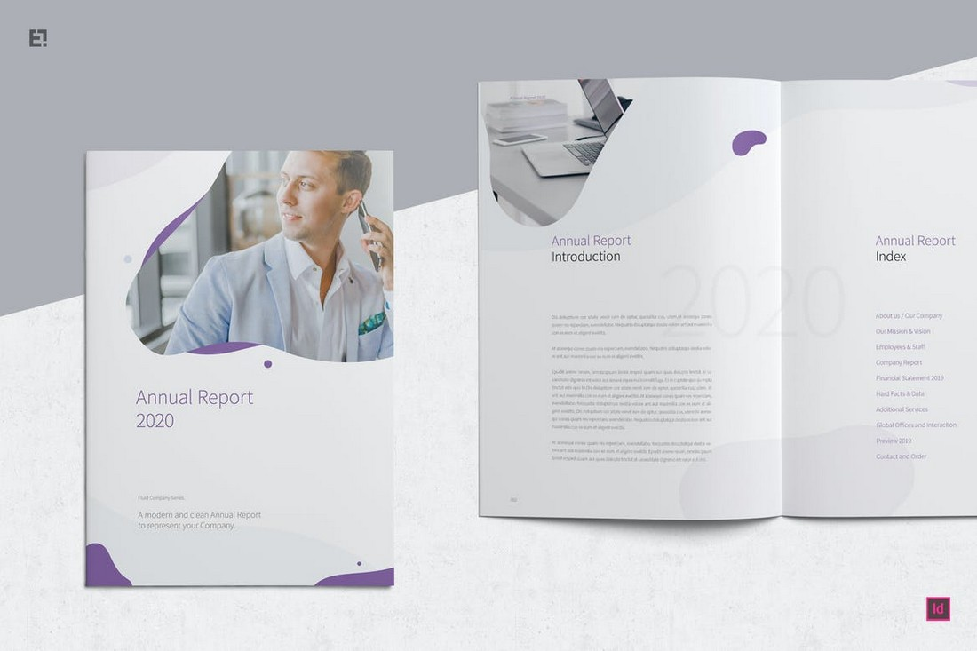 Minimal-Annual-Report-Template-2 50+ Annual Report Templates (Word & InDesign) 2021 design tips