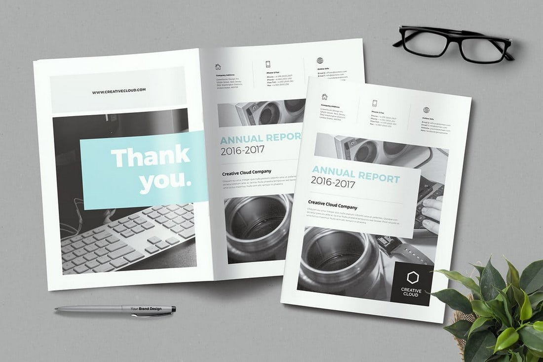Minimal-Annual-Report-Template 20+ Annual Report Templates (Word & InDesign) 2018 design tips