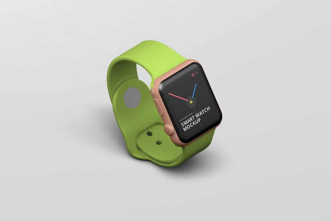 Minimal Apple Smart Watch Mockup