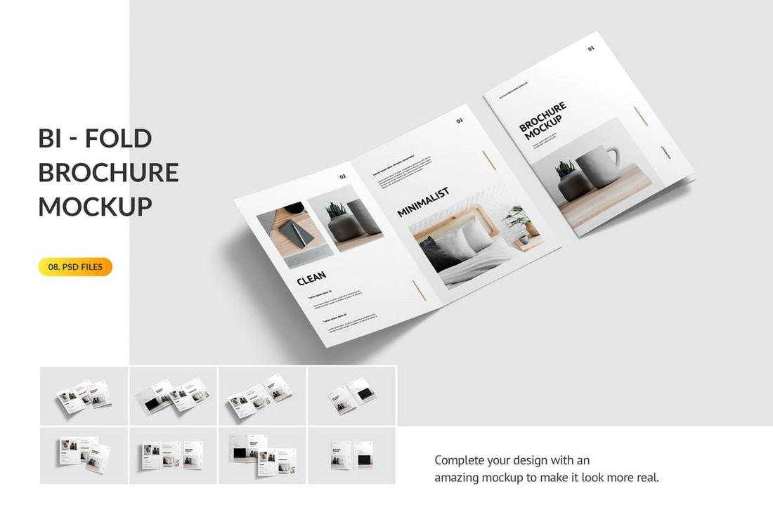 Minimal Bifold Brochure Mockup