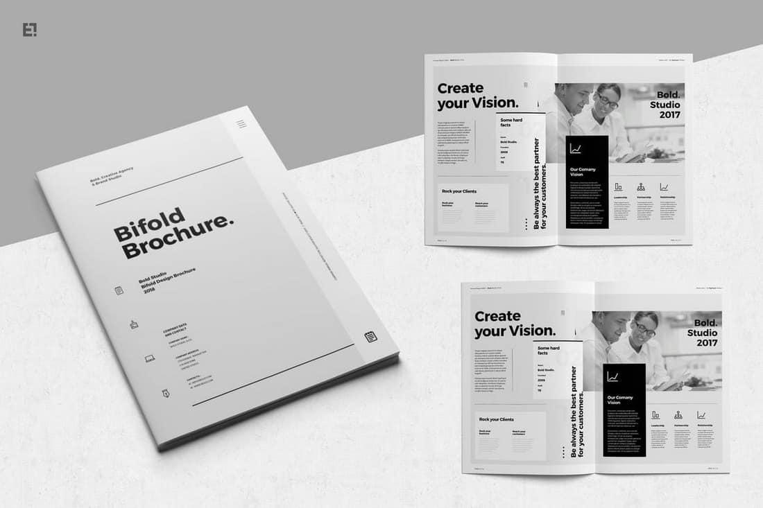Minimal-Bifold-Brochure-Template 30+ Best InDesign Templates 2021 (For Brochures, Flyers, Books & More) design tips