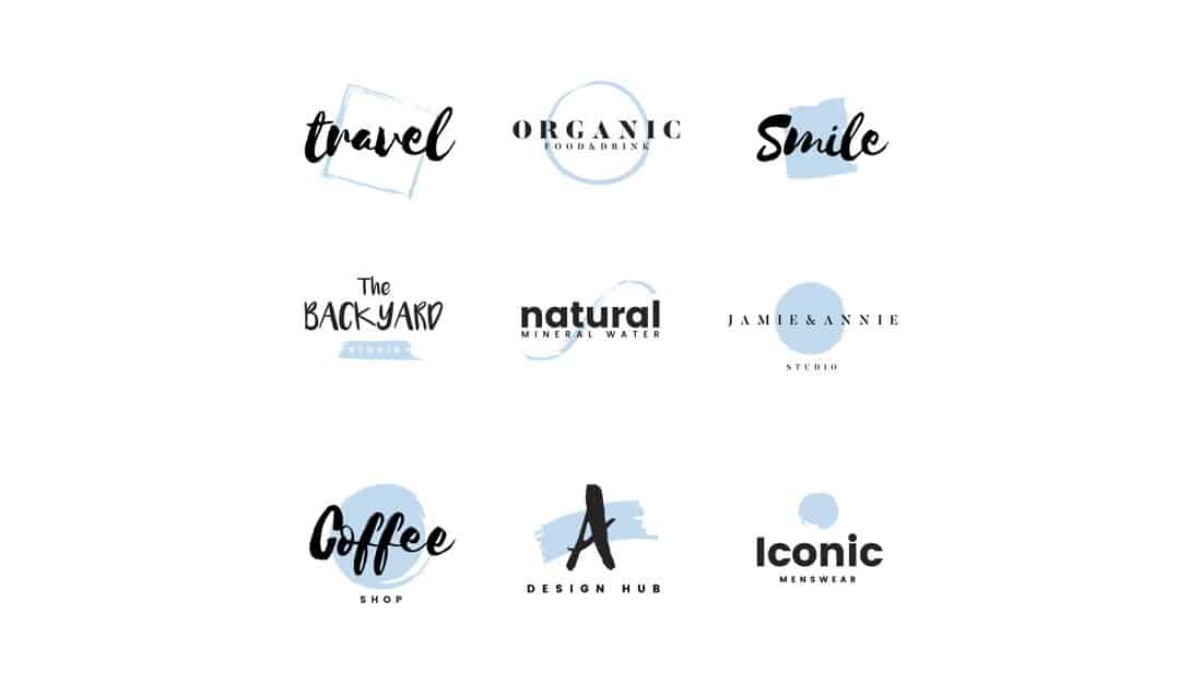 Minimal-Brand-Logo-Templates 20+ Best Free Logo Templates design tips