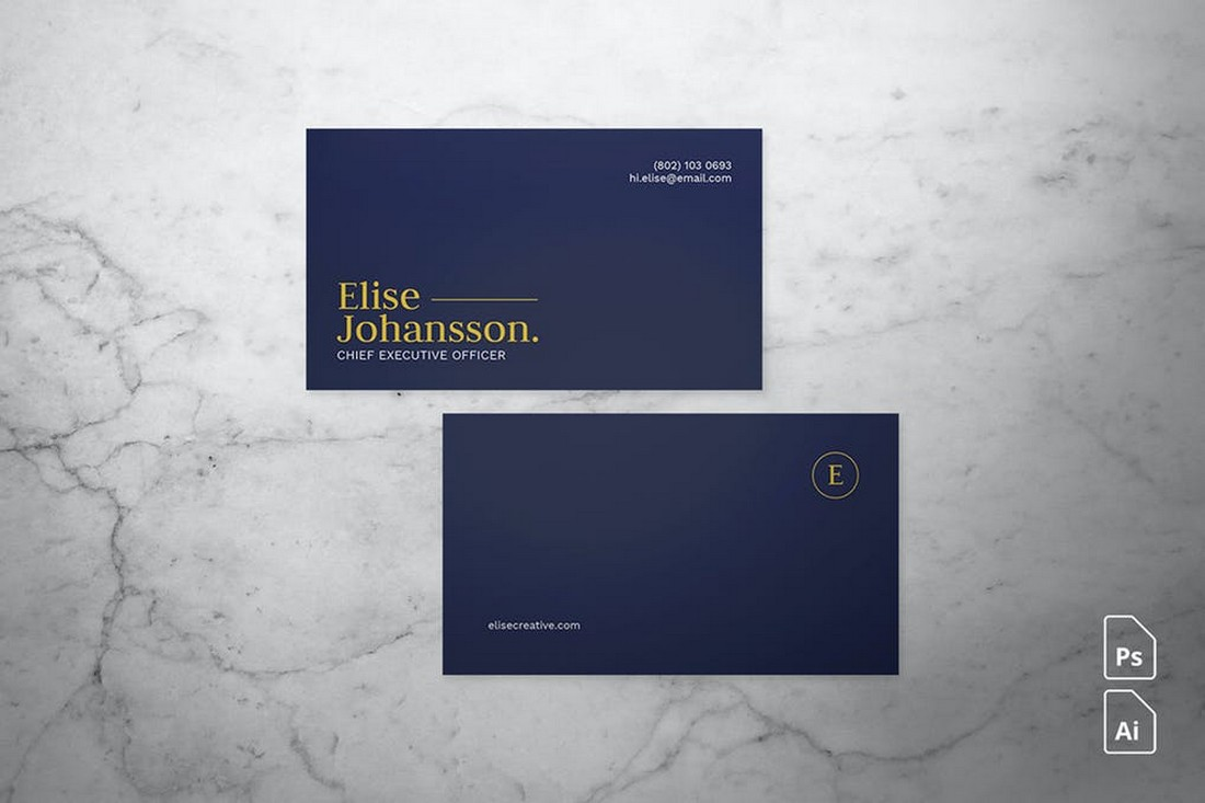 Minimal Business Card Design for Professionals