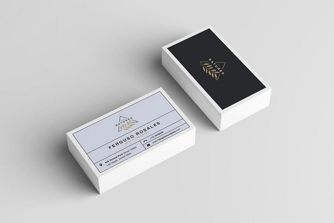 Minimal Business Card PSD & AI Template