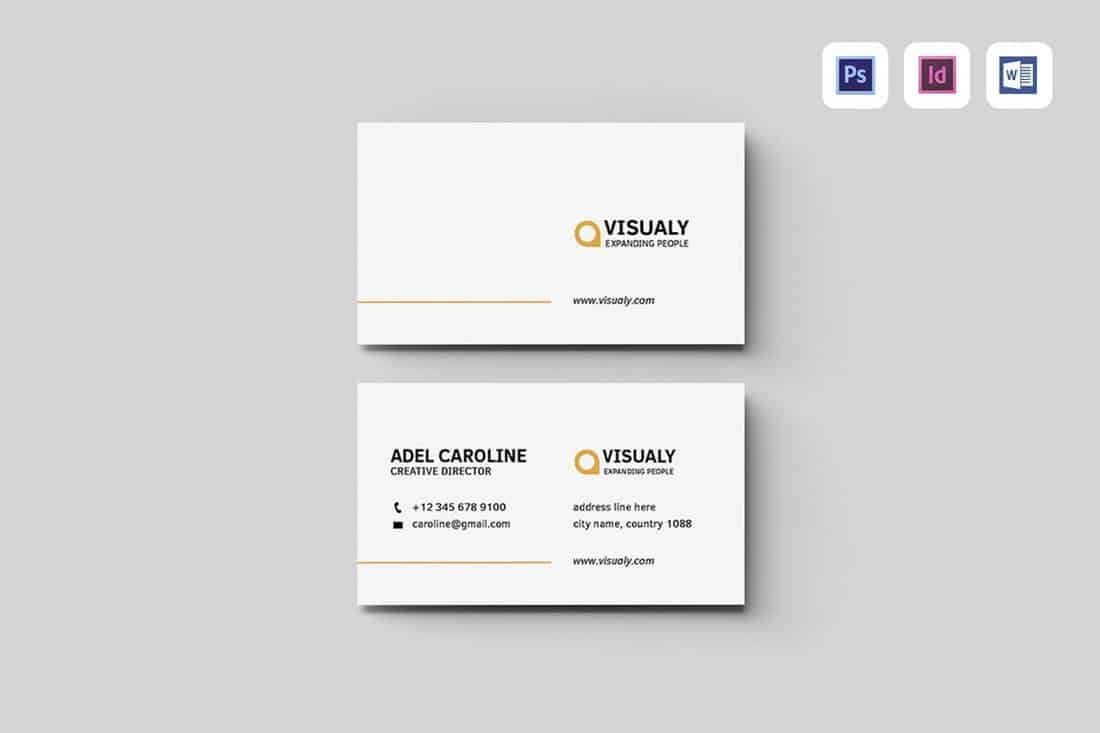 Minimal Business Card Template (Word)