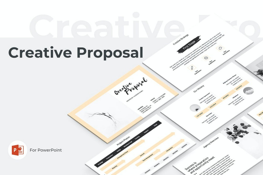 Minimal Business Proposal PowerPoint Template
