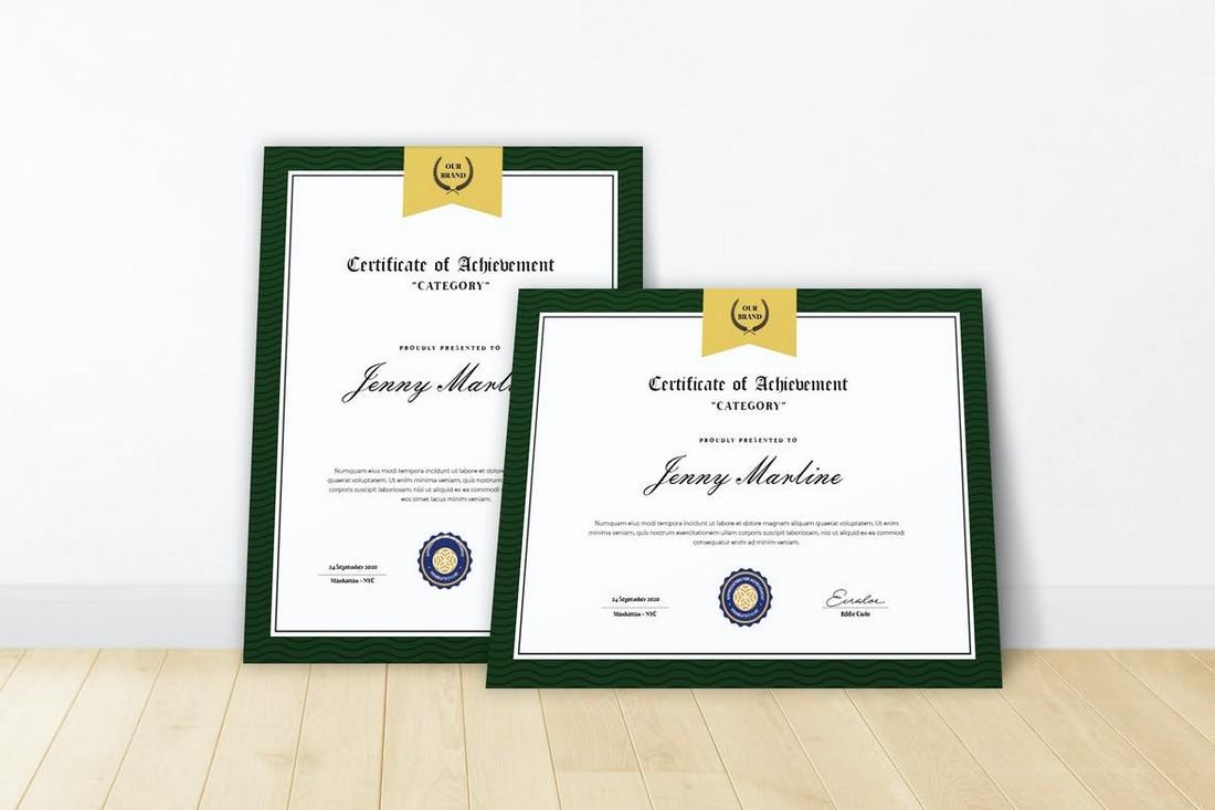 Minimal Certificate Design Template