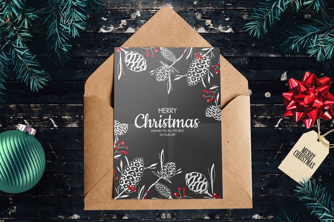 Minimal Christmas Card Template
