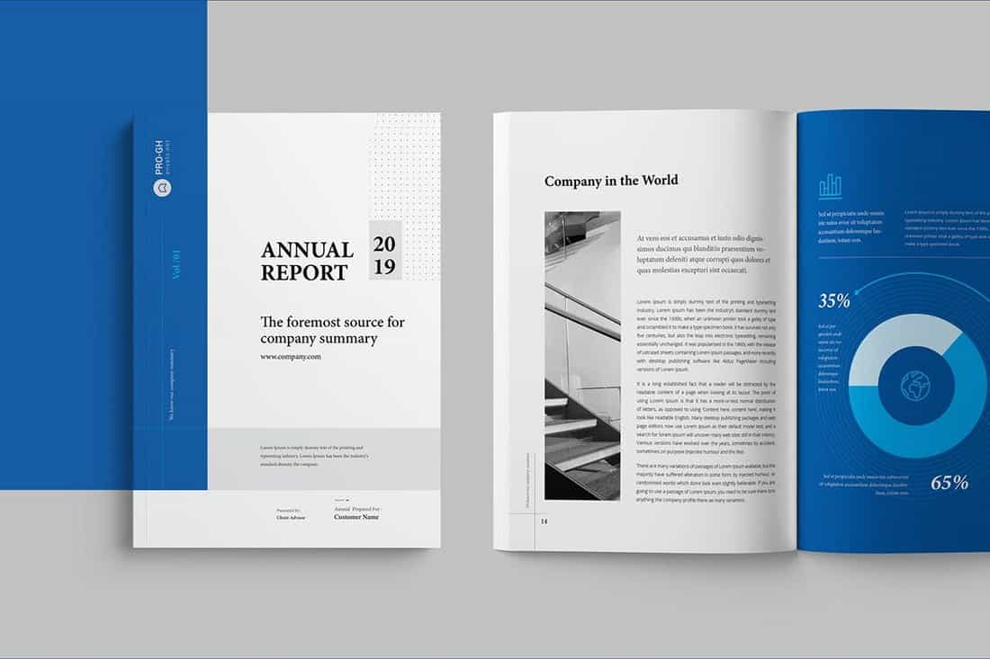 Minimal & Clean Annual Report InDesign