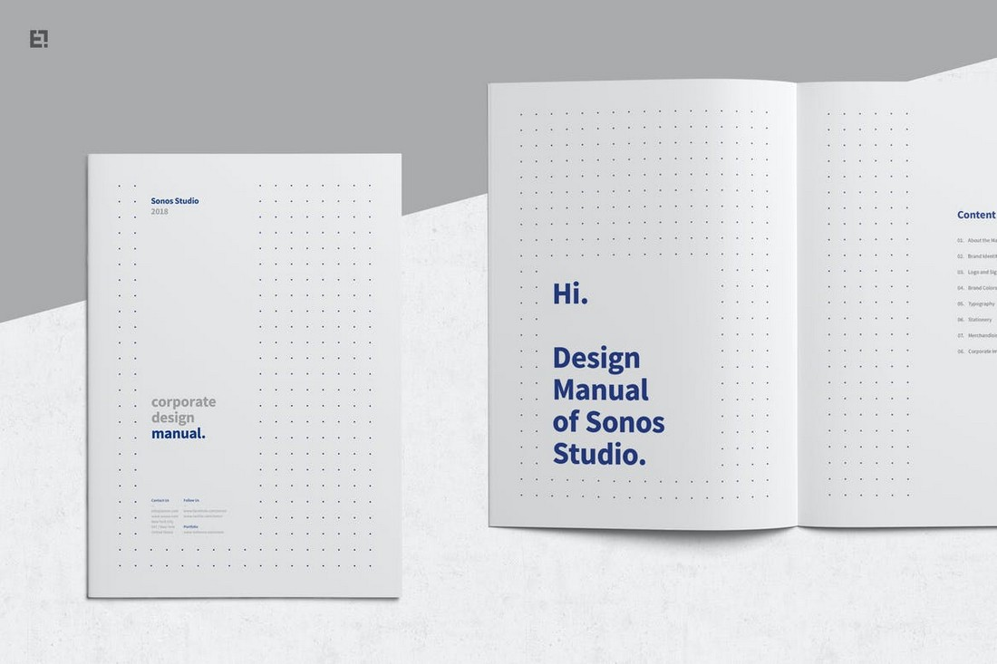 Minimal-Clean-Brand-Manual-Template 20+ Best Brand Manual & Style Guide Templates 2020 (Free + Premium) design tips
